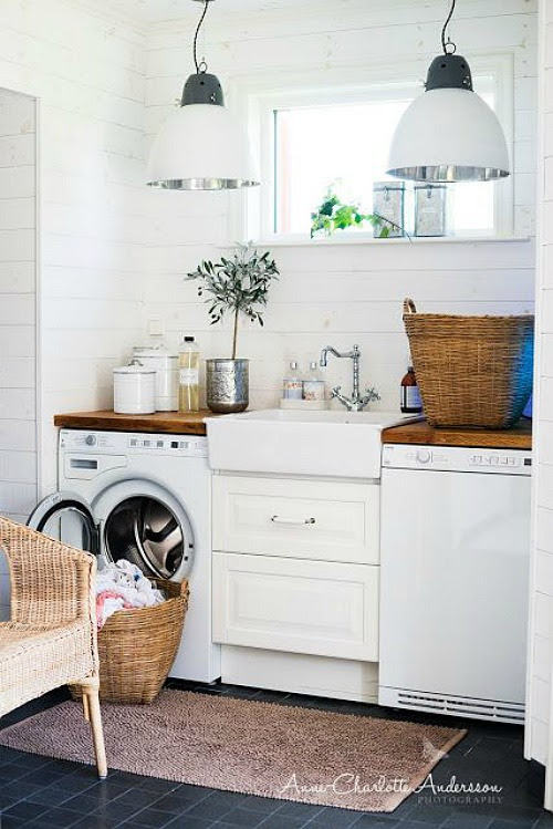 Bright and beautiful dream laundry room | Friday Favorites from www.andersonandgrant.com (link goes to photographer's website, but link to actual picture is unknown).