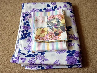 Vintage Sheet stuff to finish my Vintage Sheet Quilt