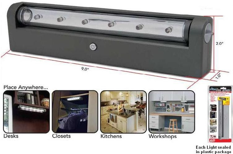 Battery Operated Wireless Under Cabinet Led Light