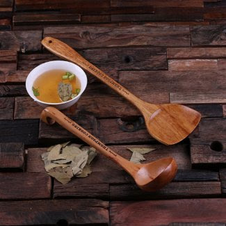 Personalized Wooden Spoon & Spatula Kitchen Set