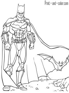 batman coloring pages  print and color