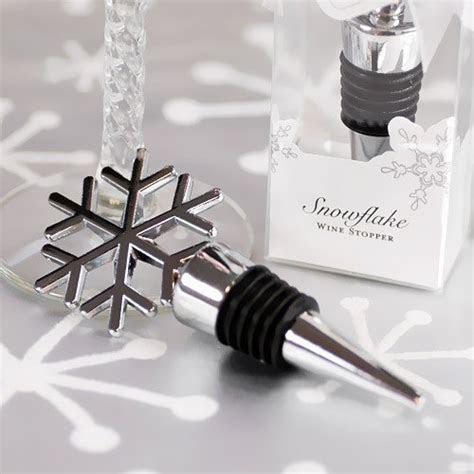 Silver Snowflake Wine Stopper Favor