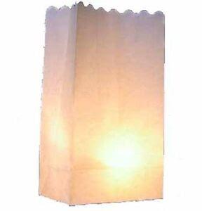 10 Blank Plain White Candle Paper Bag Luminary Lantern ...