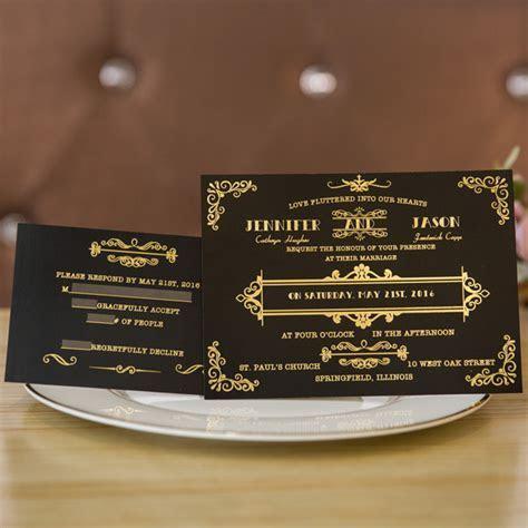 Five Beautiful Foil Invitations Inspired Wedding Color Ideas