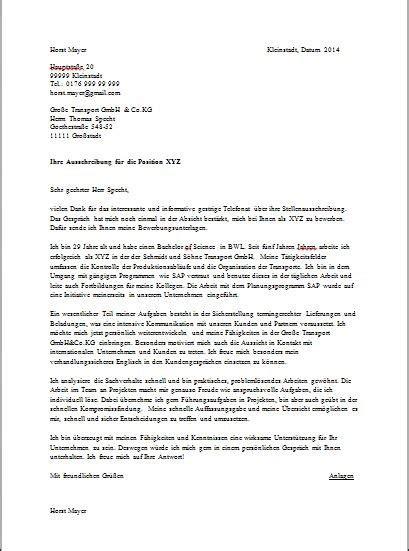 Cover Letter For Germany Job Seeker Visa