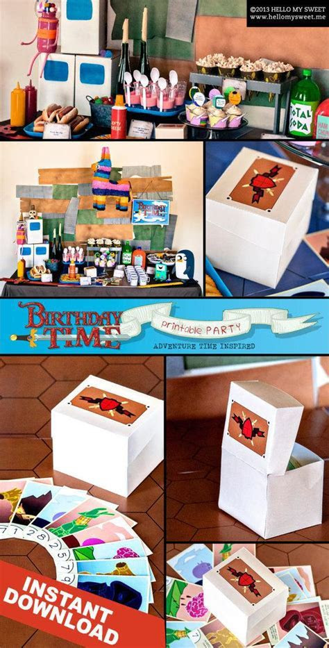 Items similar to Adventure Time Favor Box   INSTANT