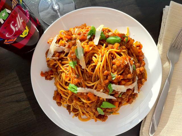 Lentil Marinara Sauce with Spaghetti Pasta Zoom