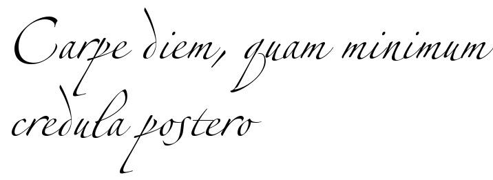 Carpe Diem Quam Minimum Credula Postero Tattoo Script Free Scetch