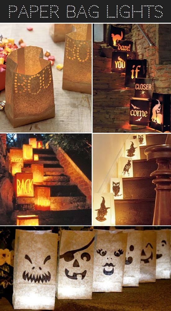 Halloween  paper bag lights party lights home decor diy halloween crafts autumn halloween halloween party ideas halloween crafts halloween diy