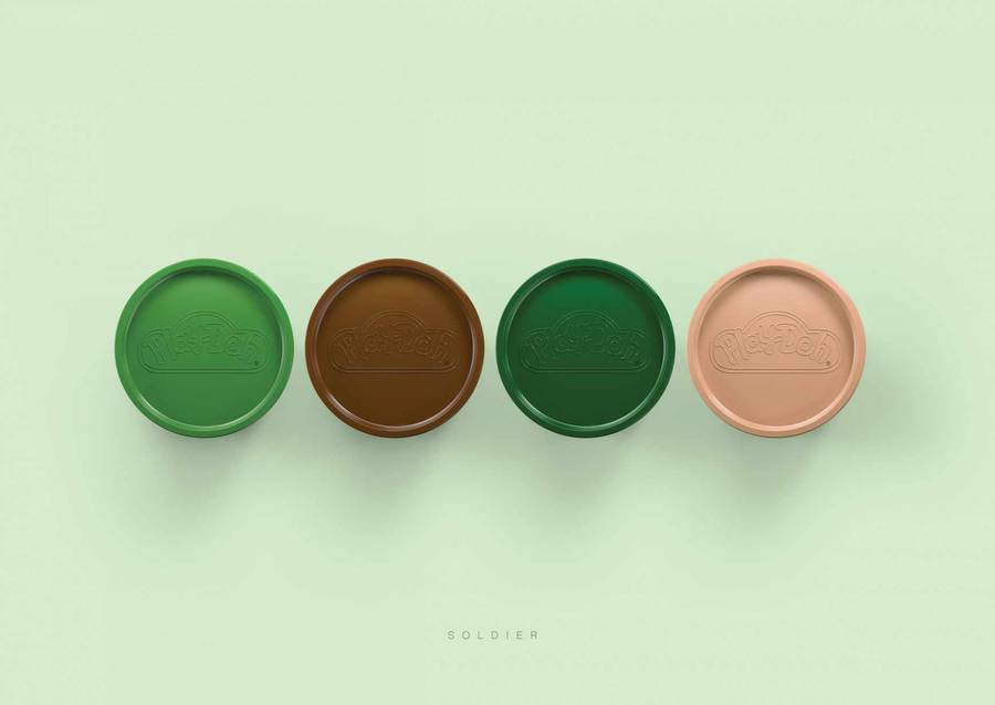 Eye-Catching Play-Doh Ads Line Up Color Palettes Used To ...