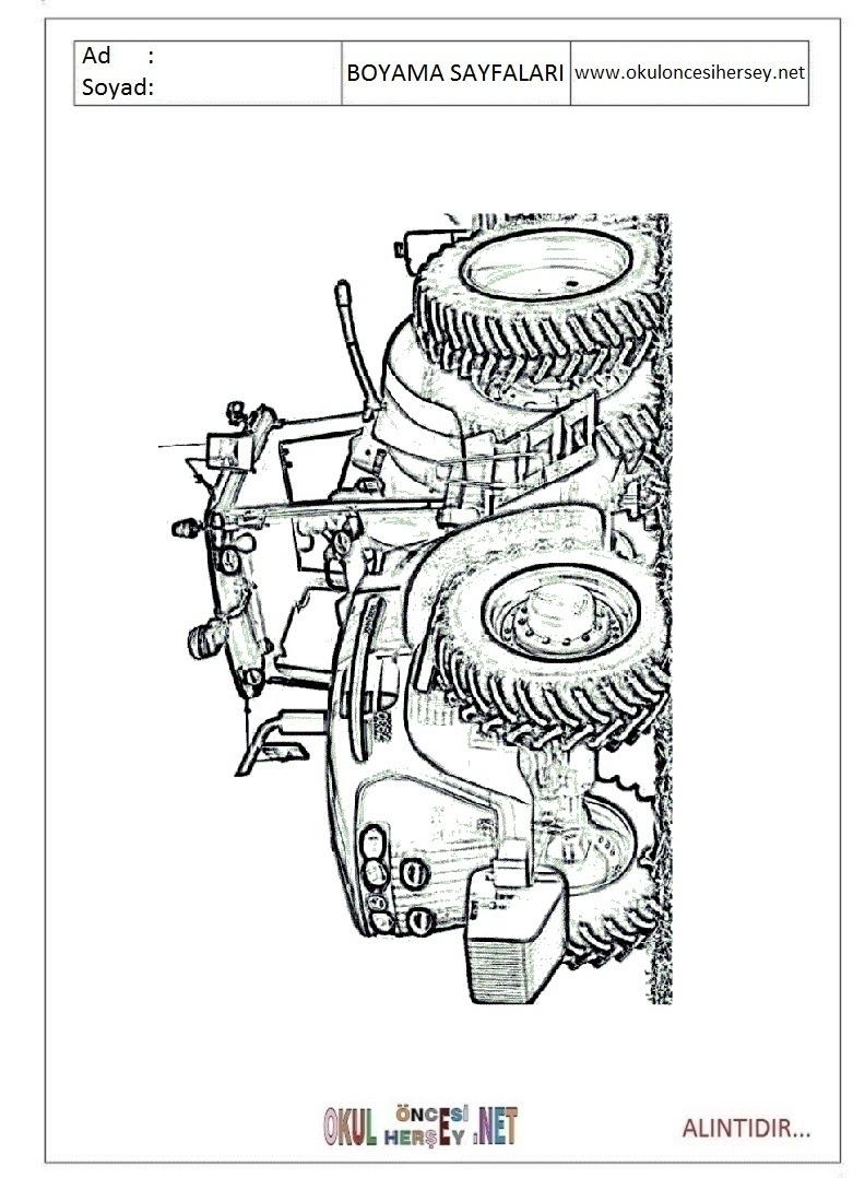Traktör Boyama Sayfaları