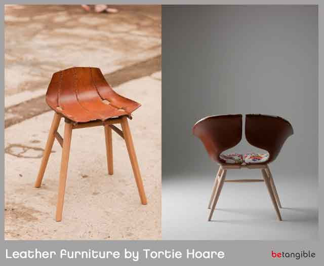 Shaped Boiled Leather Furniture by Tortie Hoare   Betangible B2B