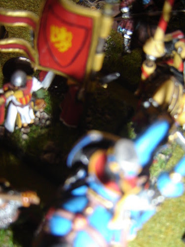 Johannes of Bohemia mortally wounded by Francesco Savorgnan