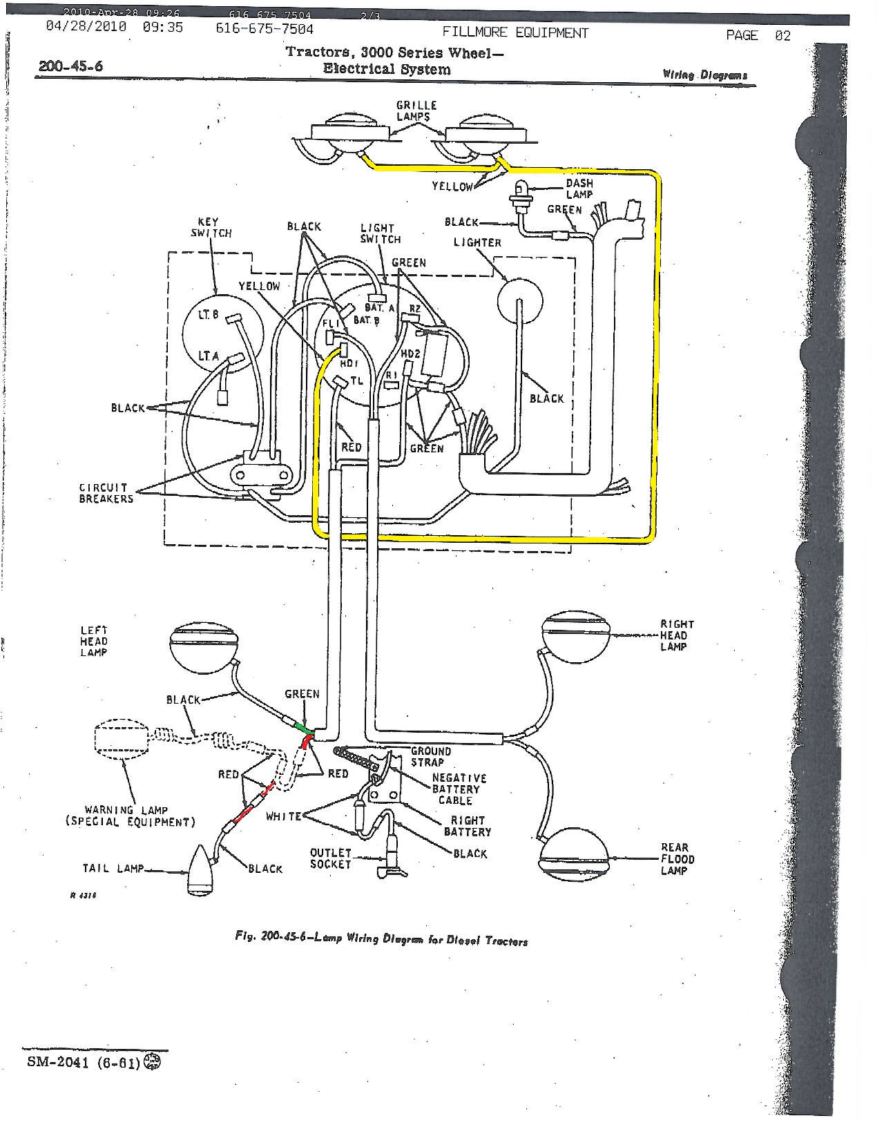 John Deere 3010 Ignition Switch Wiring Diagram
