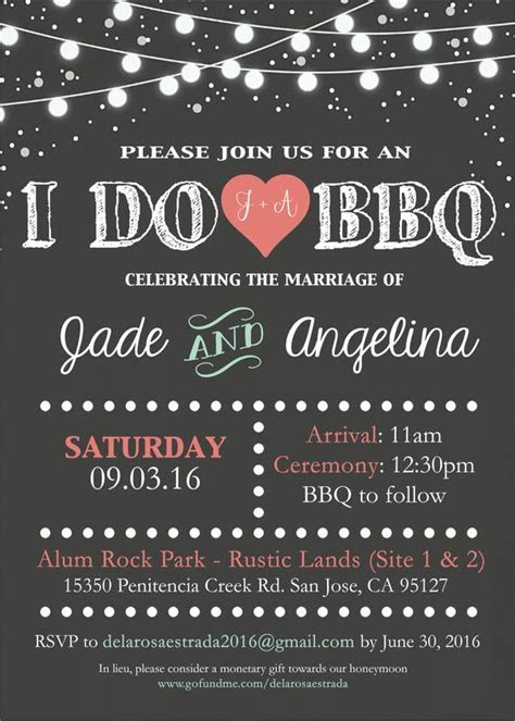I do BBQ wedding invitation by me   Designs By J9