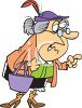 Old Busy Body Shaking Her Finger clipart