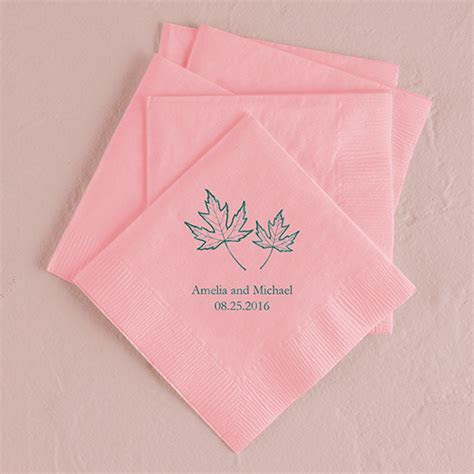 Fall Leaf Printed Napkins   Weddingstar