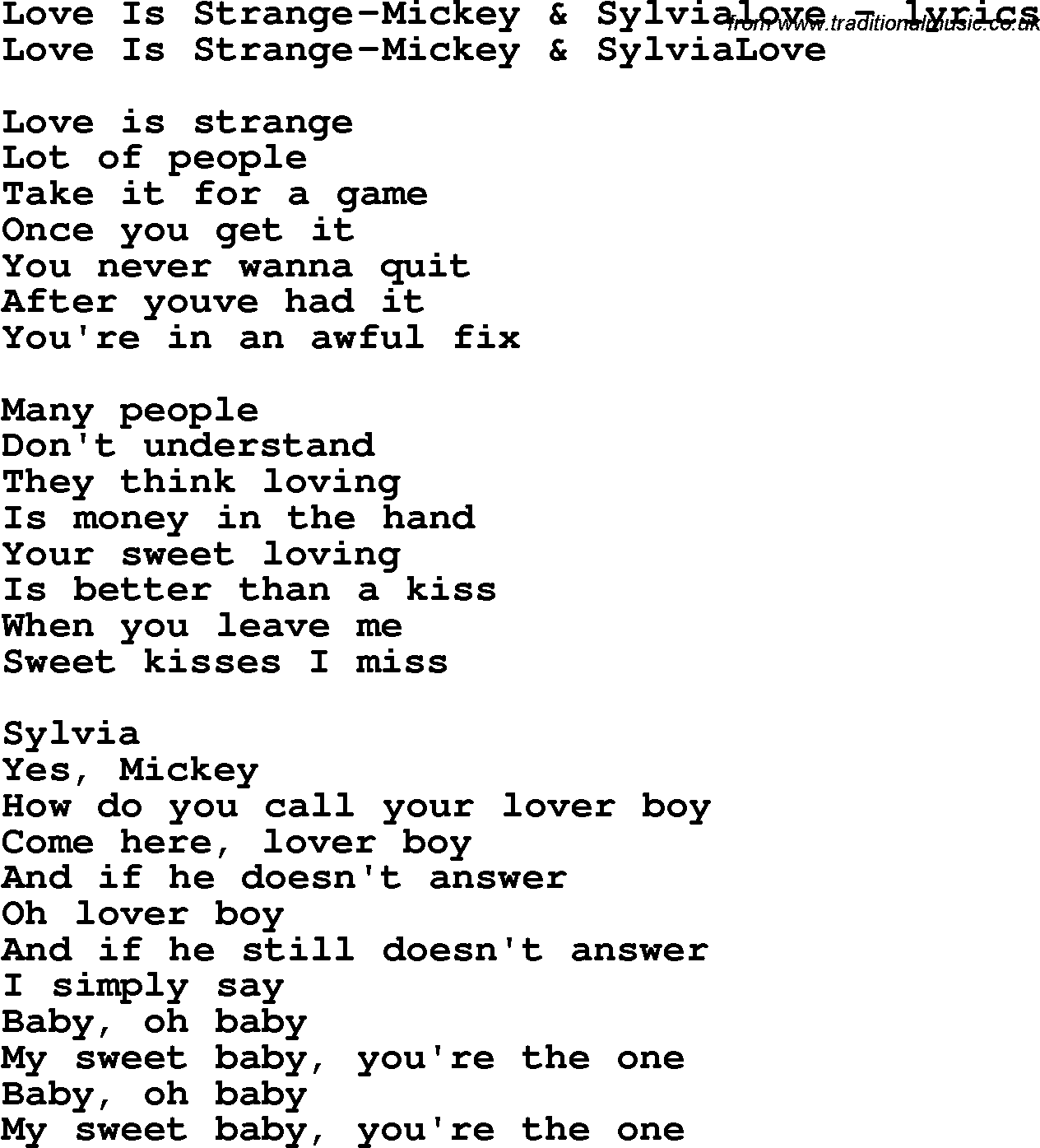Lyrics Baby Oh Sweet Baby You Re The One - Baby Viewer