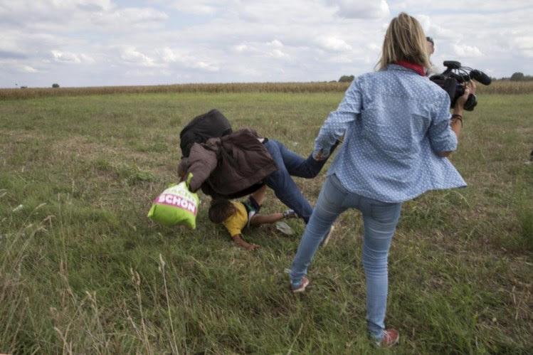 Jornalista húngara ameaça processar refugiado que rasteirou e o Facebook