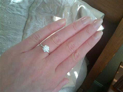 1.6 carat round brilliant diamond solitaire ring, 1.5 mm