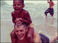 Barack Obama and Stanley Armour Dunham