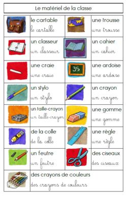 Le matériel de la classe