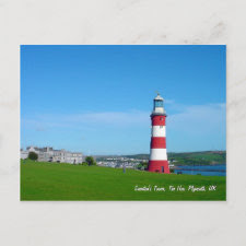 Smeaton's Tower, The Hoe, Plymouth postcard postcard