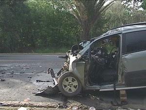 Motorista morre em acidente em Sooretama, espírito santo (Foto: Reprodução/TV Gazeta)