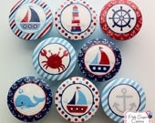 NAUTICAL Knobs Handmade Drawer Pull Harper Regatta Jackson Kids Decor boys sailboat sea ocean  SO CUTE - Pinksugarcouture