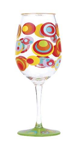 C.R. Gibson Lolita Acrylic Wine Drinkware, Fish Eyes (Set of 2)