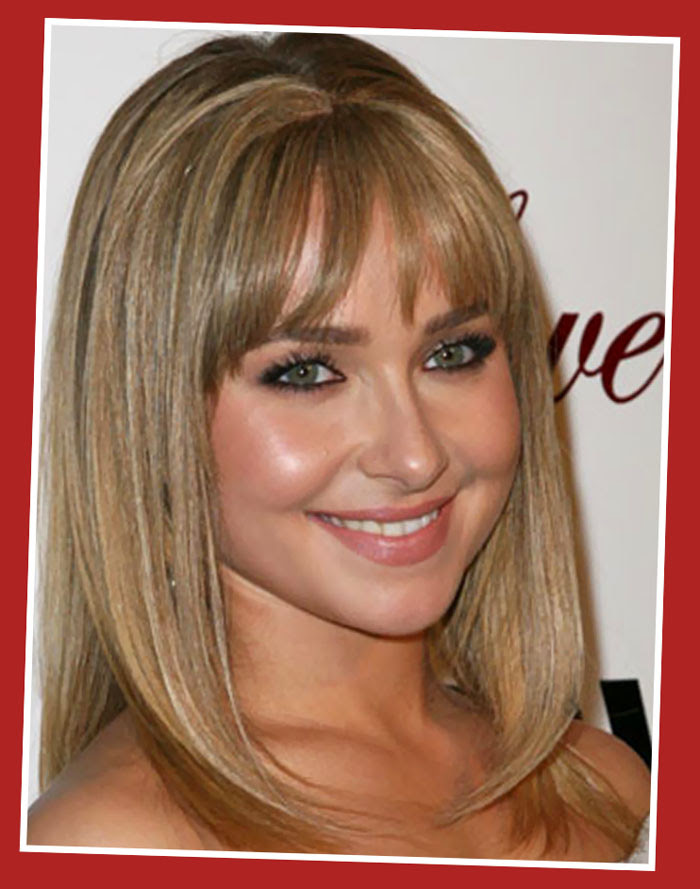 Blonde Hairstyles Medium Length With Bangs Haircuts
