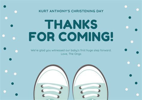 Customize 28  Christening Thank You Card templates online