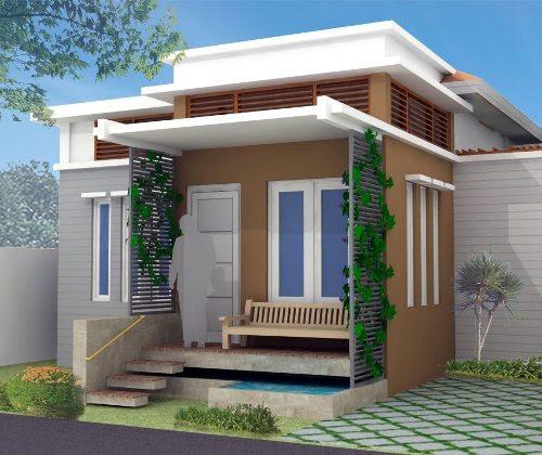 Model Rumah Minimalis Type 36 dengan pintu Standar 1 Daun