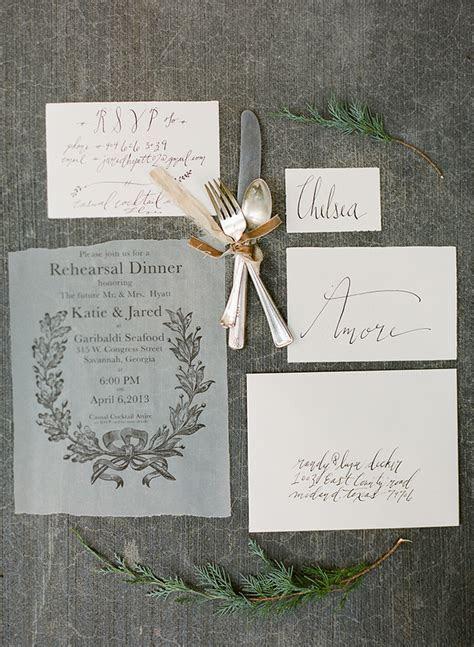 Katie's Rustic Italian Inspired Calligraphy Wedding Stationery