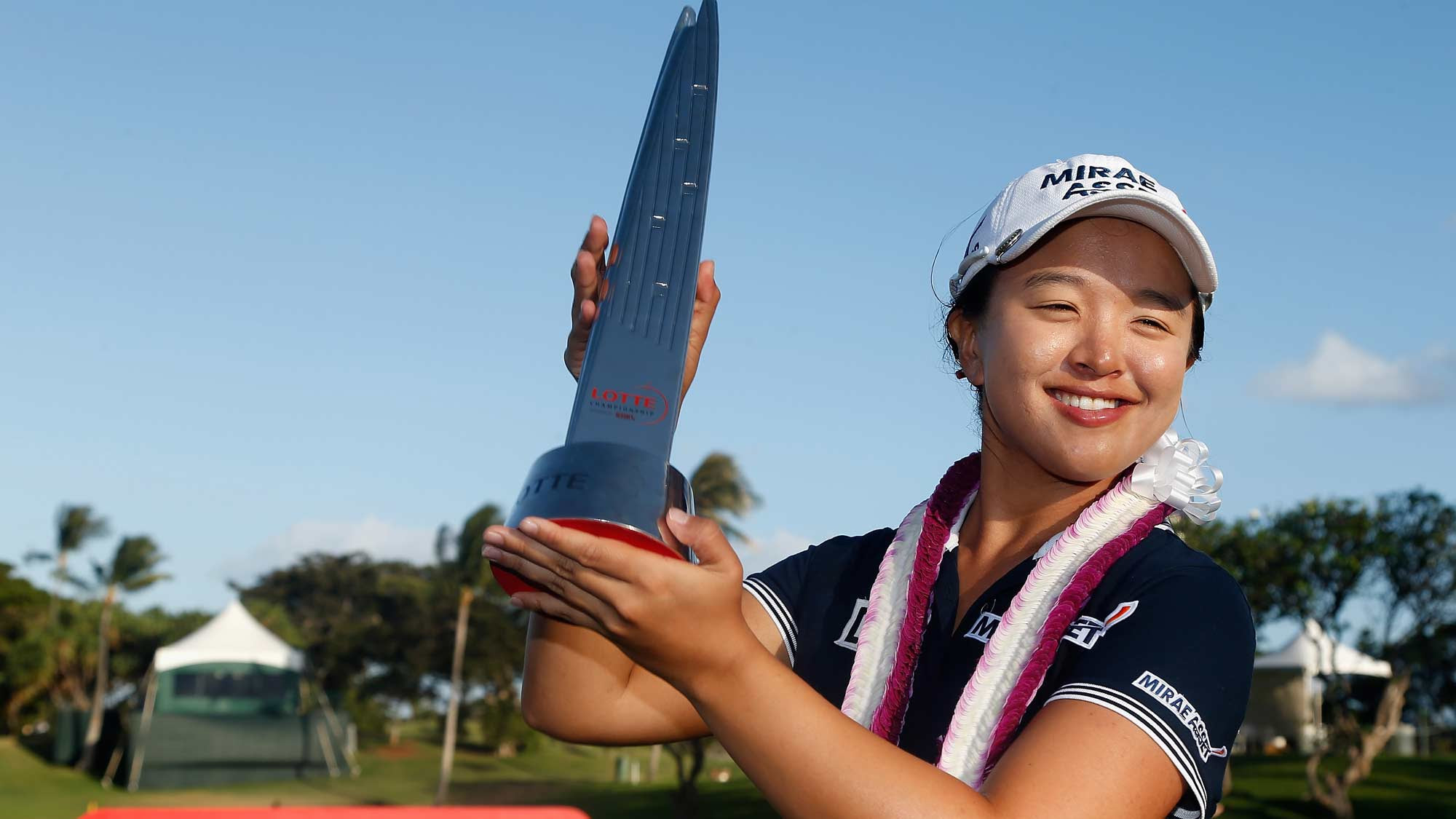 Sei Young Kim after winning the LOTTE last year