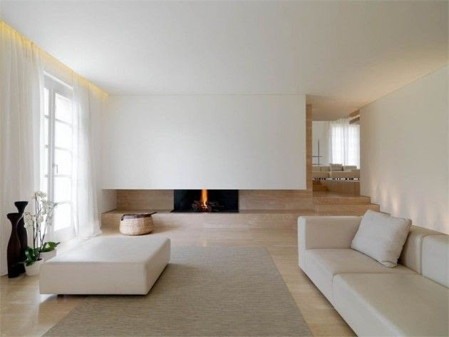 Milan, Italy-based architect Victor Vasilev re-designed the interior of a house in Carrara, Italy.