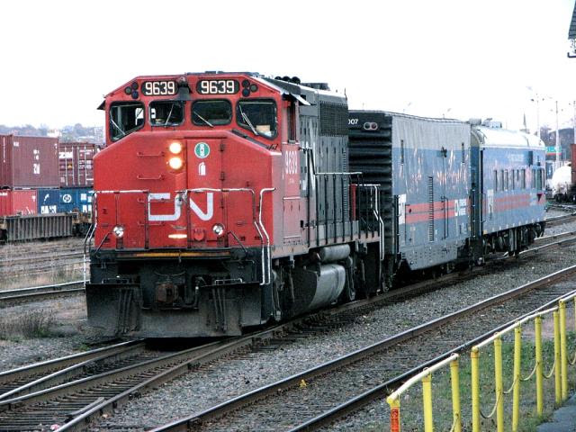 CN 9639 and the TEST train, Halifax