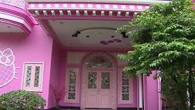 Sketsa Rumah Hello Kitty