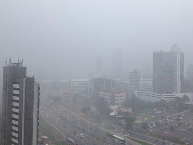 Volta a chover forte em Salvador nesta sexta-feira (Foto: Emerson Nolasco/Arquivo Pessoal)