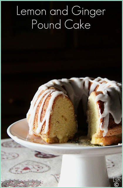 lemon and ginger pound cake