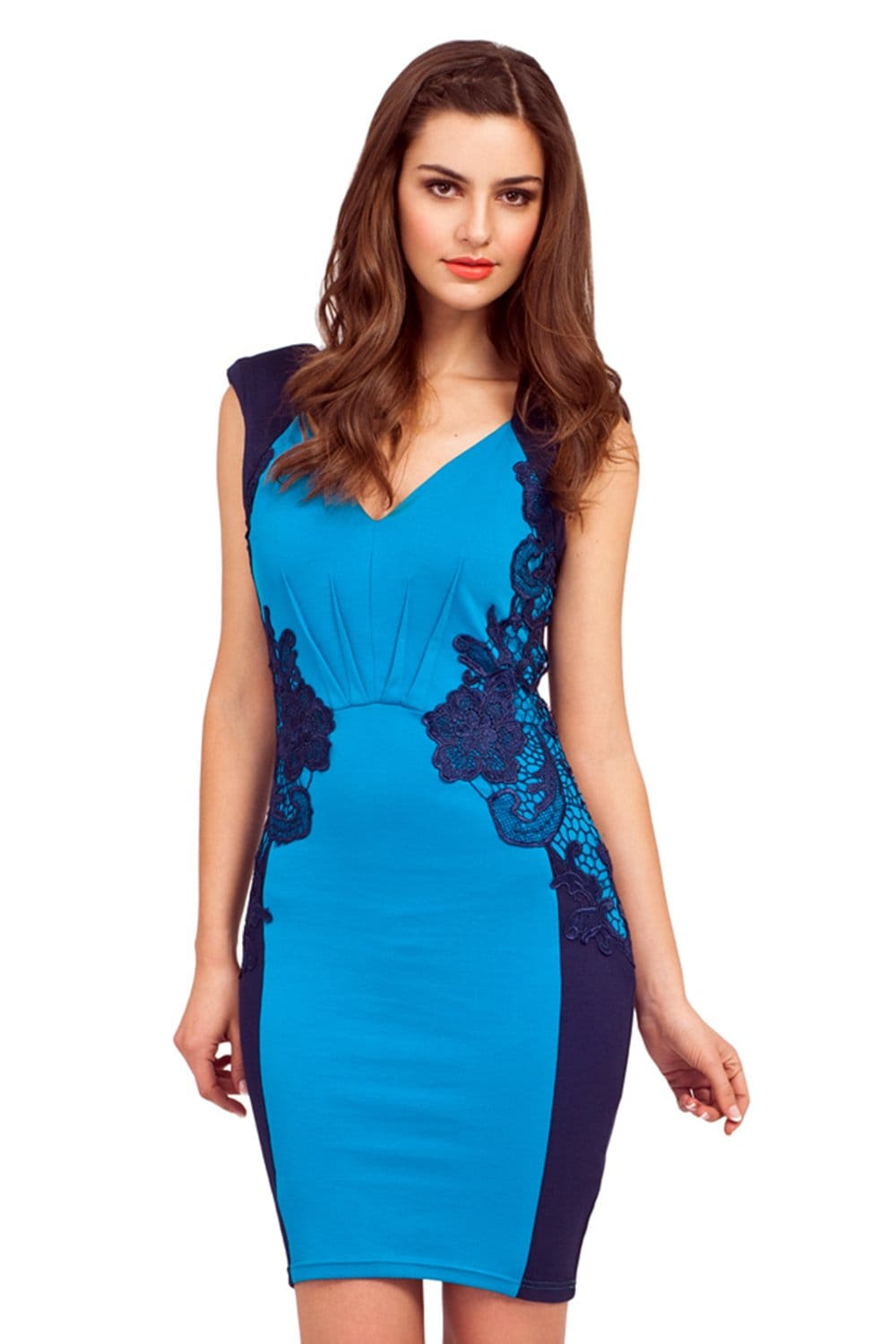 Maternity lace bodycon dress blue what are they