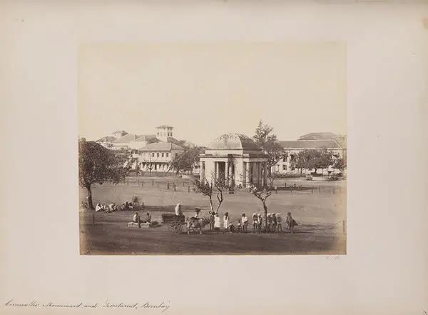 Cornwallis Monument and Secretariat, Bombay (Mumbai), 1855-1862