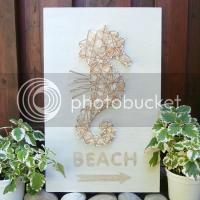 Seahorse Beach Sign