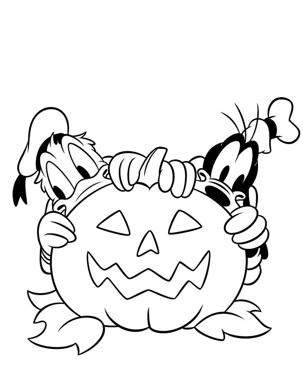 Coloriage Disney Halloween à Imprimer Bondless
