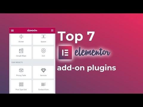 7+ FREE Elementor Add-ons