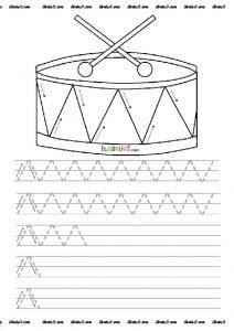 Dik Temel Harfler çizgi çalışmaları Sınıf öğretmenleri Için