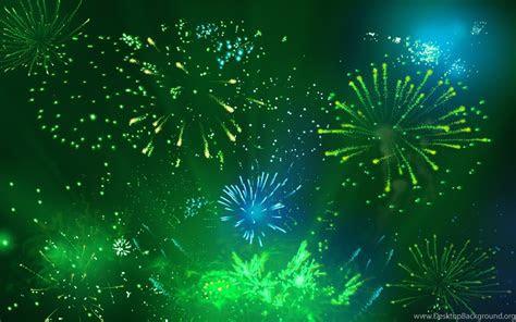 cool green fireworks computer desktop wallpapers