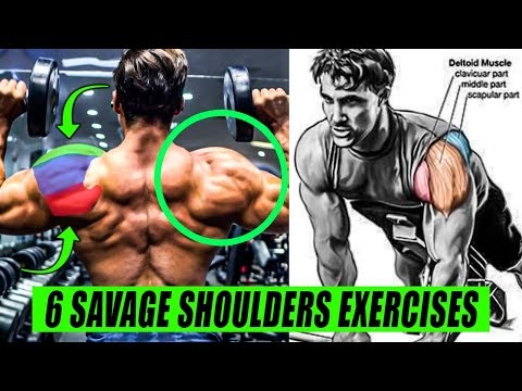6 MOST SAVAGE SHOULDERS EXERCISES FOR MASS💪 9999% GUARANTEED RESULTS