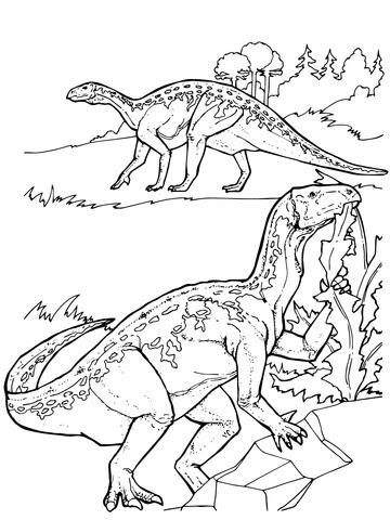 iguanodon dinosaurs coloring page  supercoloring