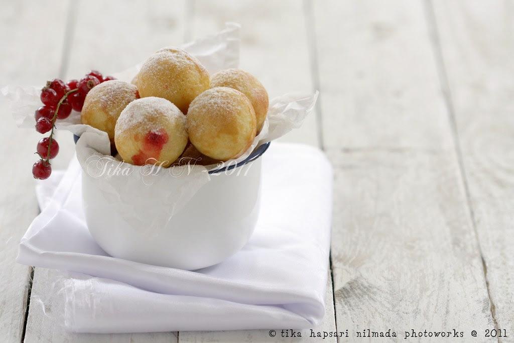 (Homemade) - Poffertjes with strawberry jam filling